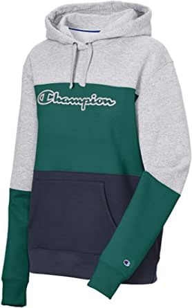 Champion Womens W4420 Powerblend® Color Blocked Hoodie Hooded Sweatshirt - Multi