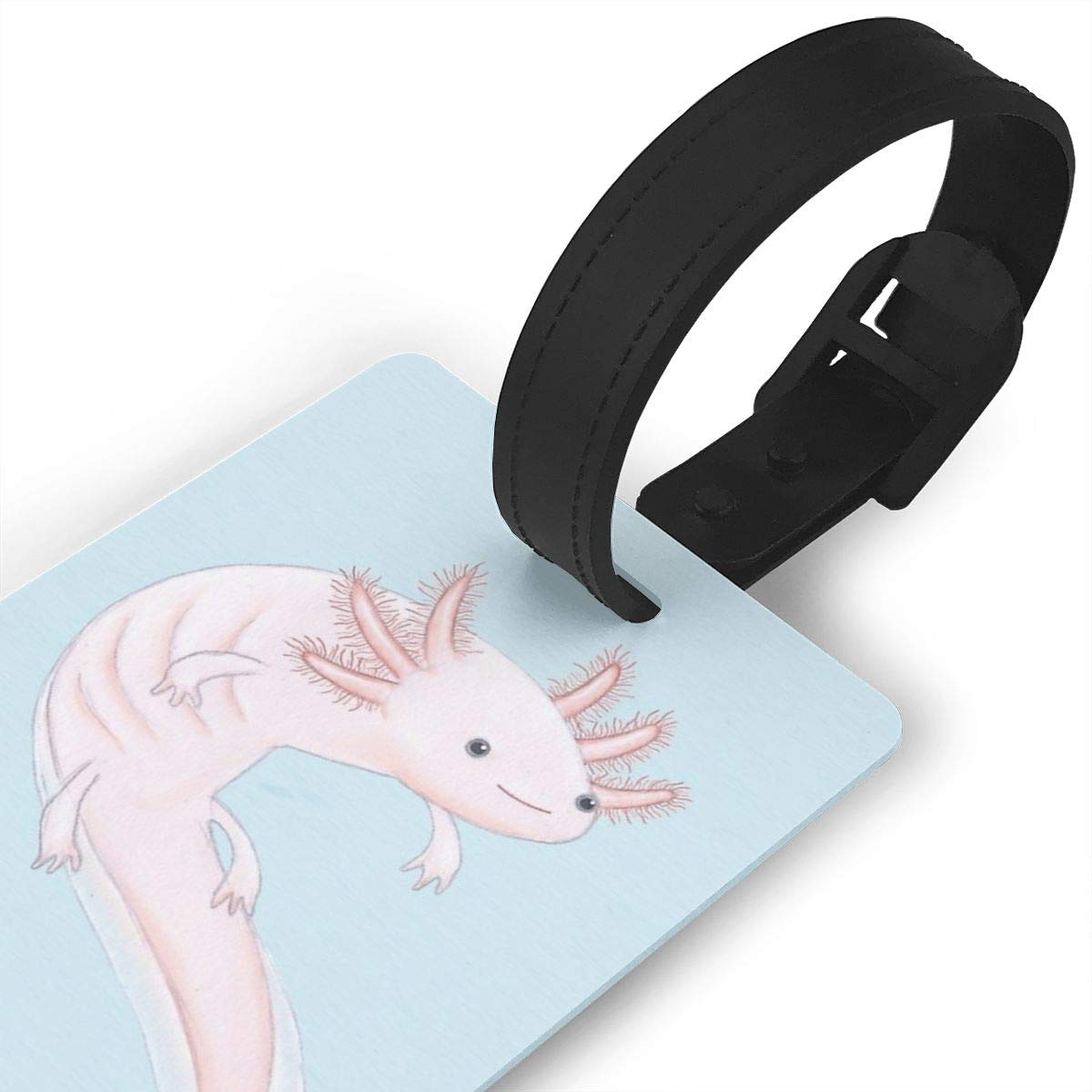 Set of 2 Axolotl Luggage Tags Suitcase Labels Bag Travel Accessories