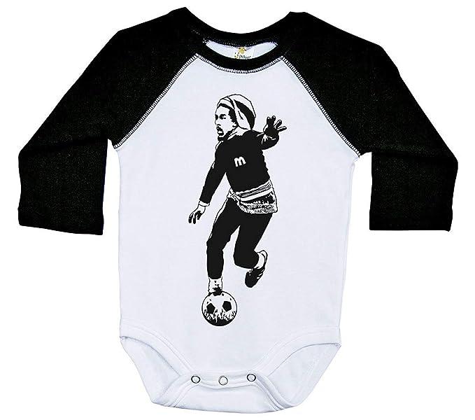 a36a16eb0 Amazon.com  SmartPig Marley Baby Long eeve Raglan Onesie BOB Marley Soccer Unisex  Bodysuit  Clothing