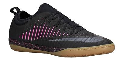 Nike Mens Mercurialx Finale II Indoor Shoes [Black/Black-Pink Blast-Gum