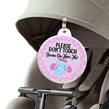 Mother & Kids Beautiful Baby Safety Sign Please Dont Touch For Baby Newborn Stroller Tag Car Seat Sign Shower Gift Mar-20 Pretty And Colorful
