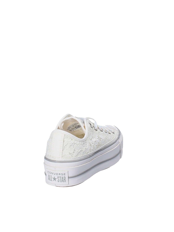 Converse Converse Converse scarpe da ginnastica Ctas Clean Lift Ox Bianco Panna Pizzo 561288C 0742cc