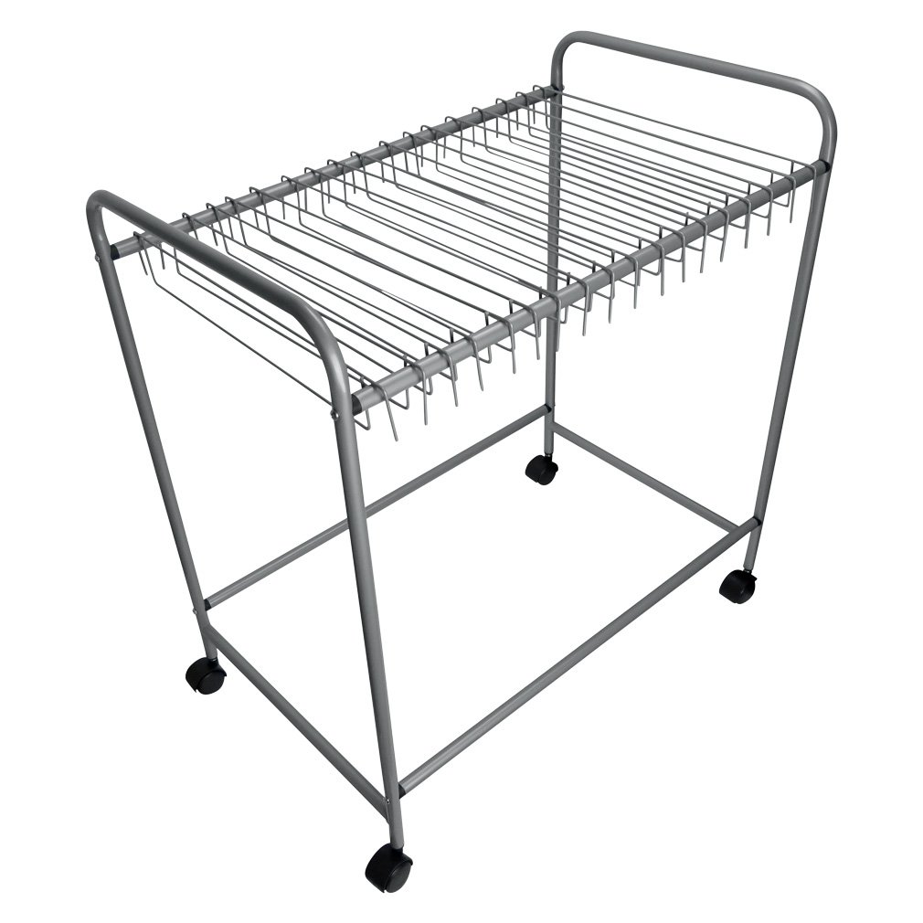 Evelots 18-Pair Rolling Trouser Trolley Removable Pants Hanger Closet Organizer Green Mountain Imports 6650