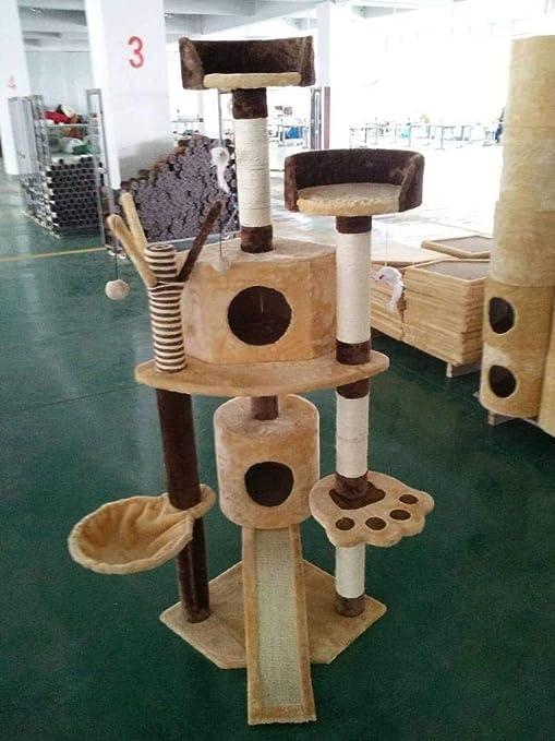 CQSMOO - Torre para Gatos (49 x 49 x 165 cm)