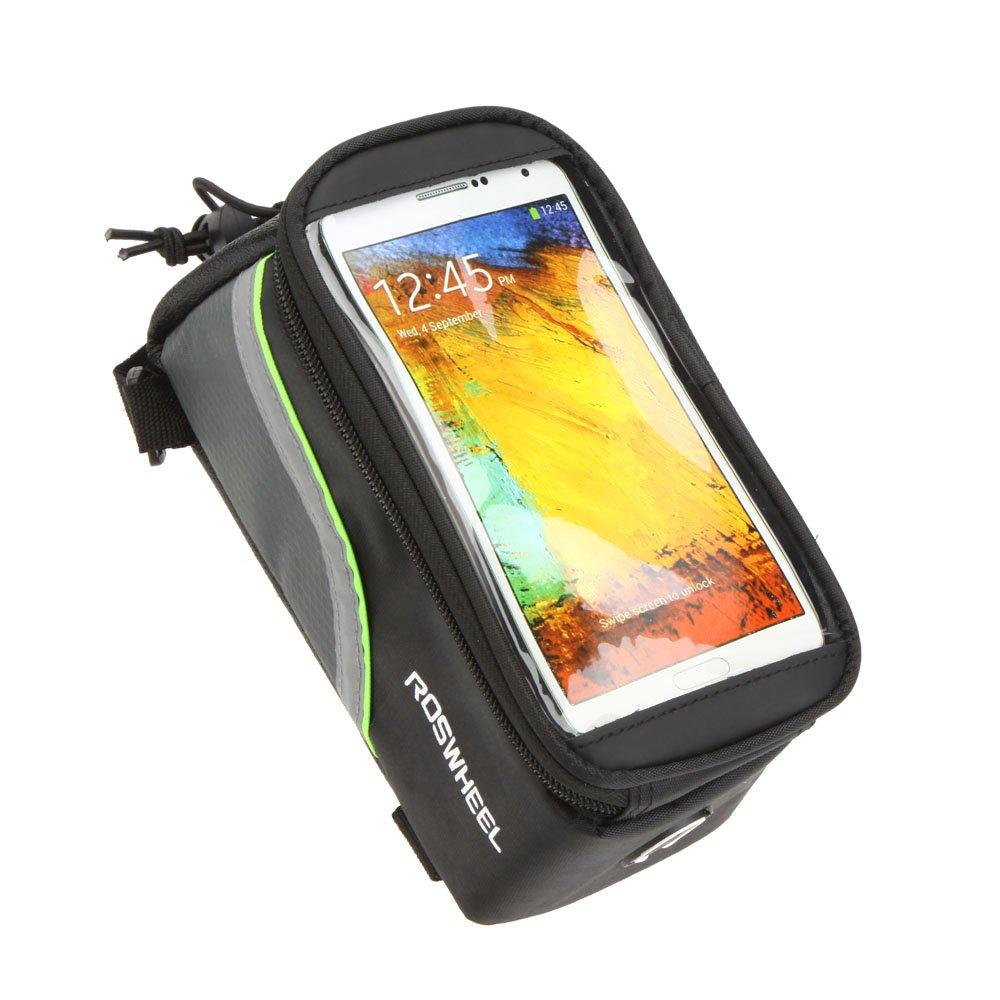 Docooler Bolso del Tubo de PVC Transparente Frontal con la Línea de Extensión de Audio de 5, 5 Teléfono Celular de Bici para los Ciclistas