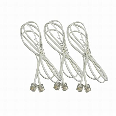 Ugtell Rj11 Telephone Phone Extension Cord Cable 1 2m 3 9 Foot Long