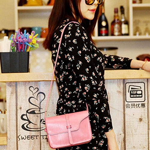 Shoulder Messenger Bag Pink Crossbody Leather Shoulder Cross Leisure Bag Little Bag Handle Paymenow Body qOX4Pq