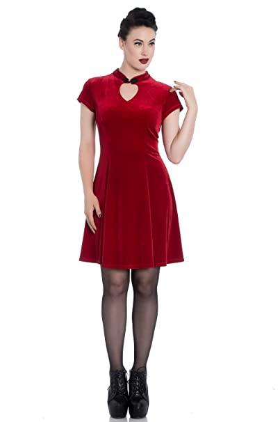 Vestido mini terciopelo velvet skater dress Mika Spin doctor 4740 (M)