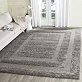 Safavieh Ultimate Dark Grey Shag Rug (8  x 10 )