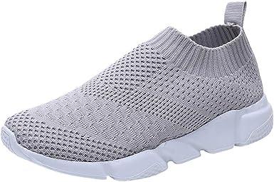 Nevera Zapatillas de Tenis para Caminar para Mujer, Ligeras, atléticas, Informales, sin Cordones - Negro - 38: Amazon.es: Ropa y accesorios