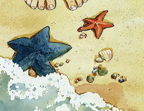 Starfish Story Make a Difference Note Cards Boxed Set - Toes and Starfish - 16 Premium Cards and Matching Envelopes