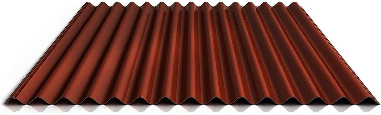 Profil PA18//1064CR Farbe Wei/ßaluminium St/ärke 0,70 mm Dachblech Beschichtung 25 /µm Wellblech Profilblech Material Aluminium