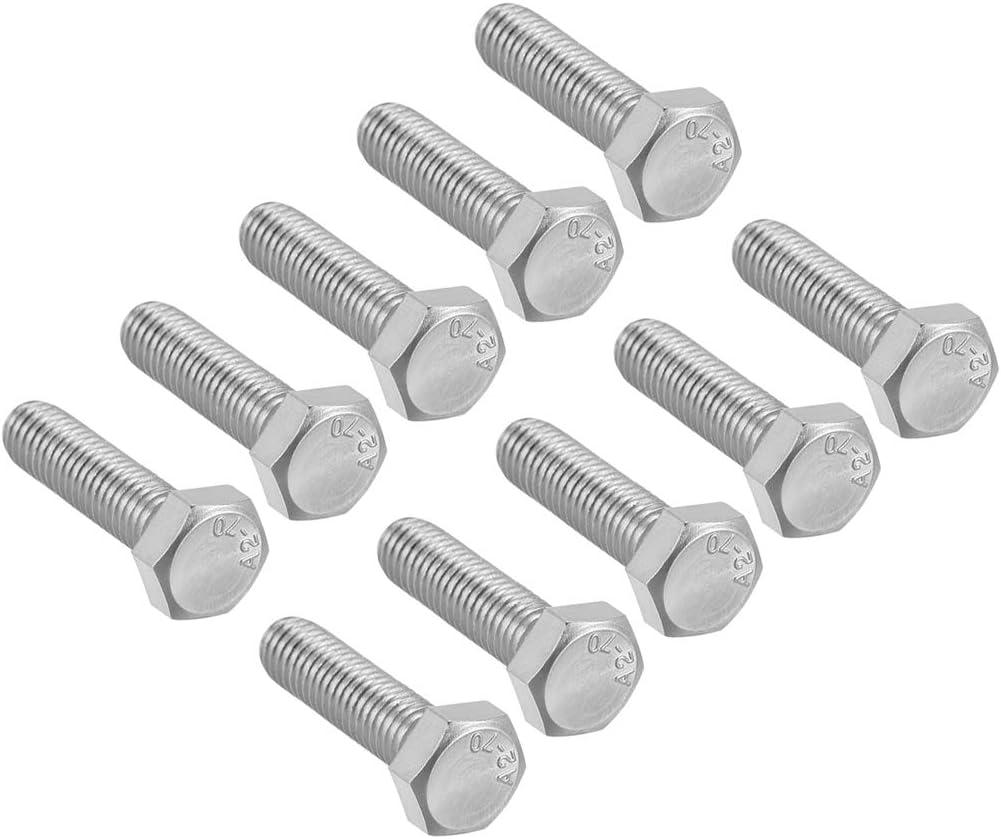 Tornillos de cabeza hexagonal de acero inoxidable 304 90 mm