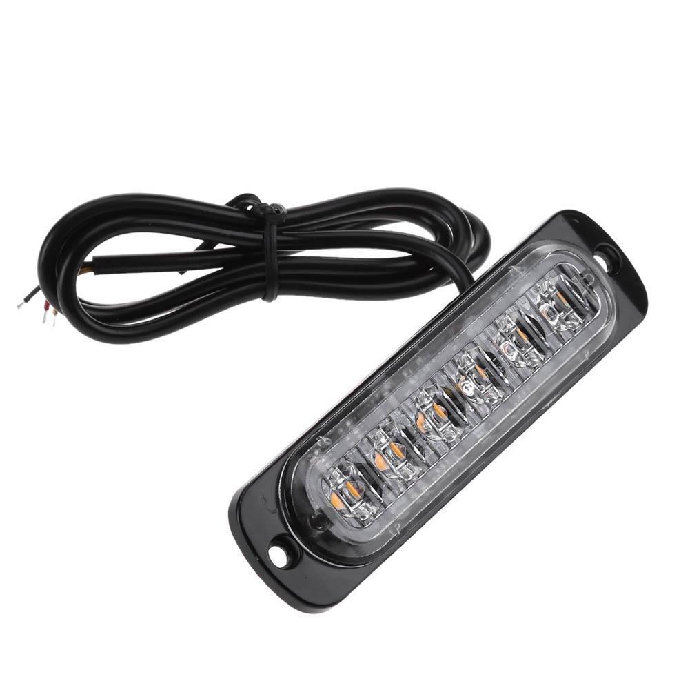 Tuankayuk luces estrobosc/ópicas de advertencia de emergencia Juego de 4 luces LED delgadas de 6 ledes para coches