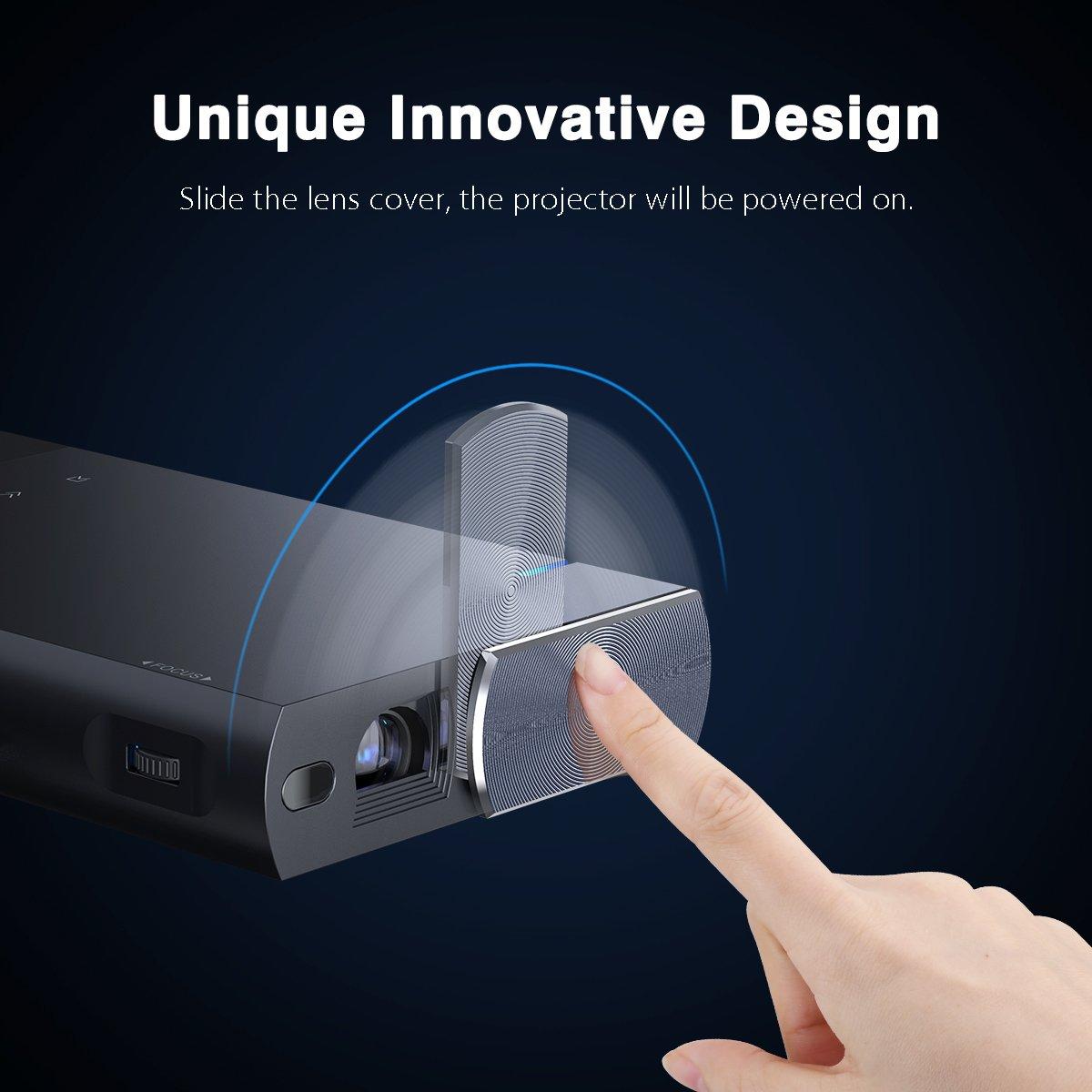 Beamer Mini DLP Projektor Pico Tragbar HDMI USB Micro-SD Audio S1 5200mAh wiederaufladbar 100 Zoll Stativ unterst/ützt 1080P f/ür Handy Smartphone Heimkino PC Tablet Familie inkl