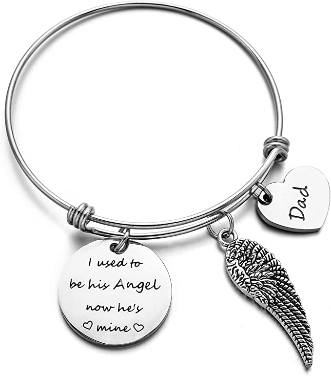 Amazon.com: Dad Memorial Jewelry - Pulsera con llavero de ...