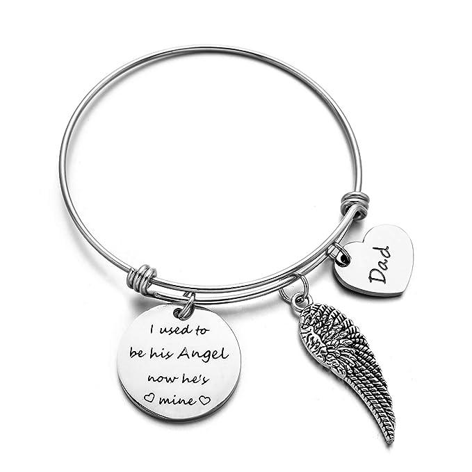 Amazon.com: Dad Memorial Jewelry - Pulsera con llavero de ...