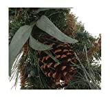 6' Pre-Lit Berries & Pinecones Fireside Christmas Garland - Clear Lights