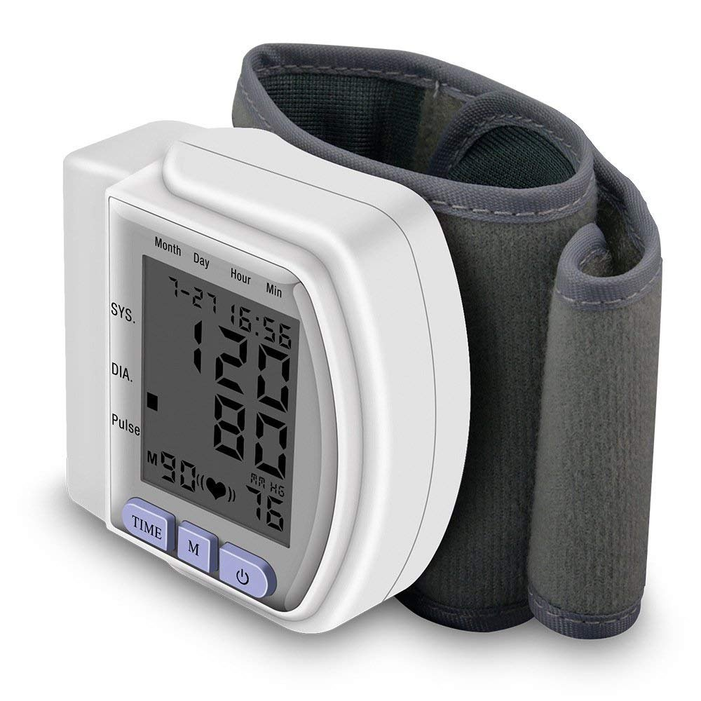 Amazon.com: Portable Digital Blood Pressure Monitors Automatic Wrist Meter Irregular Heartbeat Wrist Cuff Sphygmomanometer: Health & Personal Care