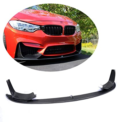 Mcarcar Kit Front Bumper Lip Fits Bmw F80 M3 F82 F83 M4 2014 2018 Performance Look Add On Pure Carbon Fiber Chin Spoiler Splitter Protector