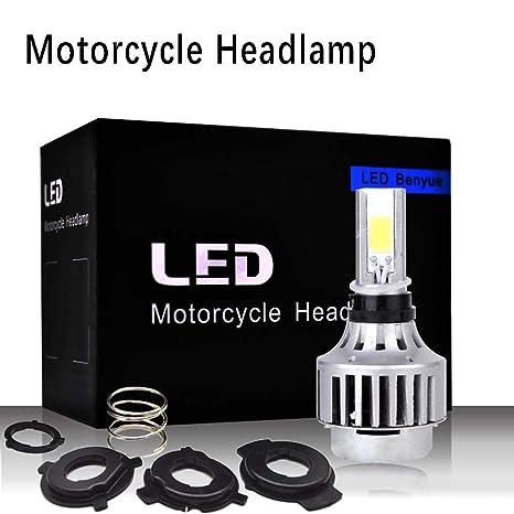 M3 Bombilla LED Motocicleta Coche, 30W 6500K 3000LM Faros Delanteros Bombillas para Moto, Reemplazo