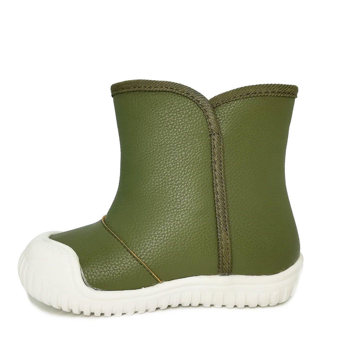 Oderola Bottes de Neige B/éb/é Gar/çon Fille Premiers Pas Chaud Hiver Enfant Bottines Chaussures /étanche Boots 25 Vert