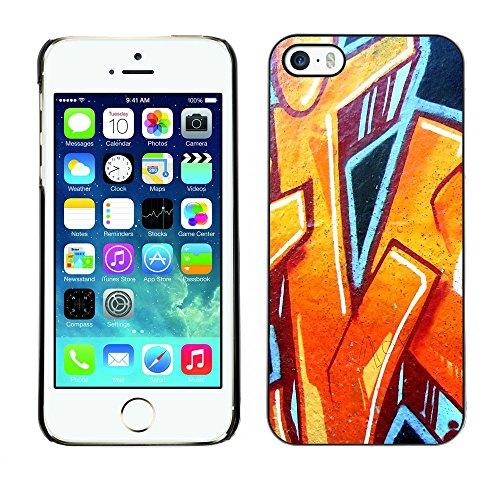 Premio Sottile Slim Cassa Custodia Case Cover Shell // V00002298 Graffiti // Apple iPhone 5 5S 5G