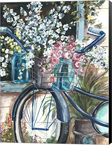 Vintage Bike and Mason Jar by Tre Sorelle Studios Canvas Art