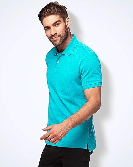 LAPASA Polo para Hombre de Manga Corta Camiseta Casual 100% Puro ...