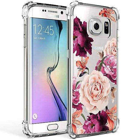 Amazon.com: Funda Flores para Galaxy S7, Rojo rosa: Electronics