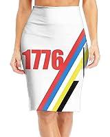 BaodaooWashington Quote 1st President 1776 Slim Vintage Pencil Skirts For Women High Waist Pencil Skirt Short Fitted Mini Skirt Bundle Packs