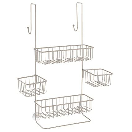 Amazon.com: InterDesign Metalo Adjustable Over Door Shower Caddy ...