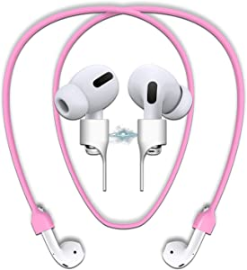 cobcobb Airpods Strap Magnetic Cord Anti-Lost Leash Sports String Accessories for Airpods Pro/2/1 (Pink)