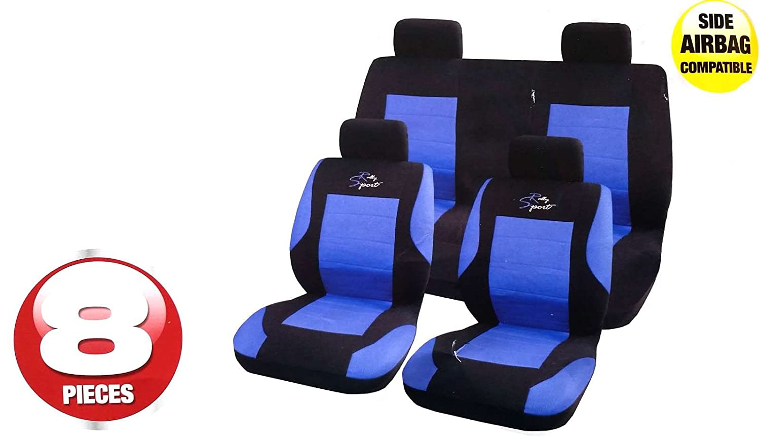 Blue XtremeAuto Universal Full Car Front And Rear Seat Cover Protectors Set Durable