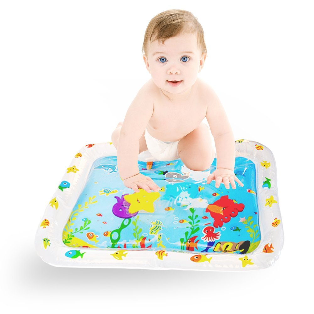 KingShark Baby Water Play Mat, Fill 'N Fun Water Play Mat For Children And Infants, Fun Colorful, Play Mat Baby