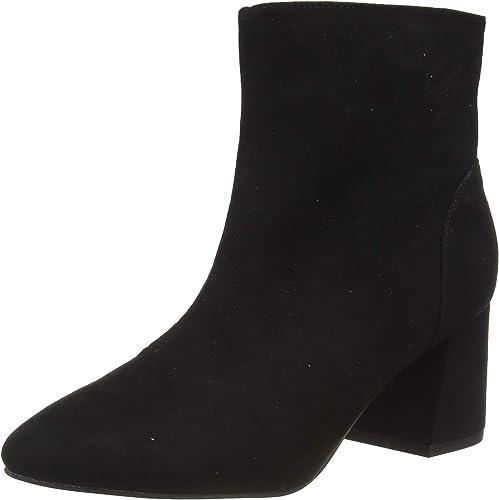 Black 'Addie' Heeled Boots Ankle