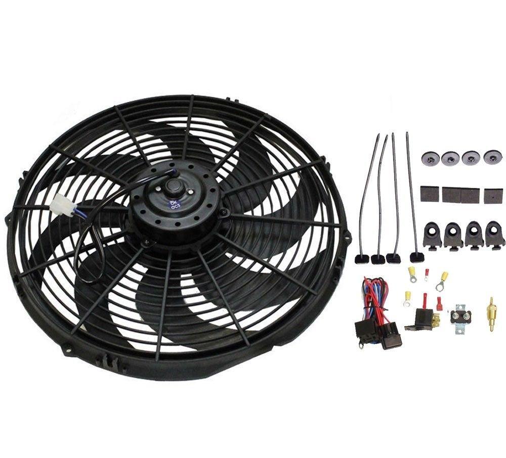 16 Heavy Duty Radiator Electric Fan 3000 Cfm Reversible Flexalite Wiring Diagram For Sbc Bbc 350 Thermostat Automotive