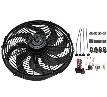 """16 """"Heavy Duty Radiador eléctrico ventilador 3000 CFM Reversible SBC BBC 350/termostato"""