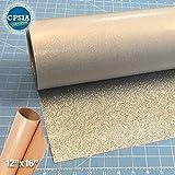 Siser Glitter Silver Easyweed Heat Transfer Craft Vinyl Roll (30ft x 10'' Bulk w/ Teflon roll)