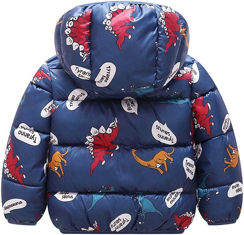 Arystk Baby Boys Girls Coat Toddler Winter Hooded Long Sleeve Cartoon Windproof Warm Outwear Jacket