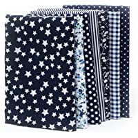 7pcs 25 * 25cm Different Pattern Patchwork Fabric Craft Printed Cotton Material Mixed Squares Bundle Quilting…