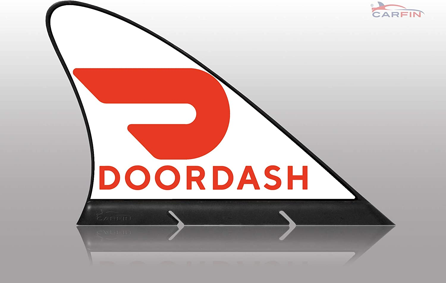 CARFIN Doordash Magnetic Car Sign White, Sign