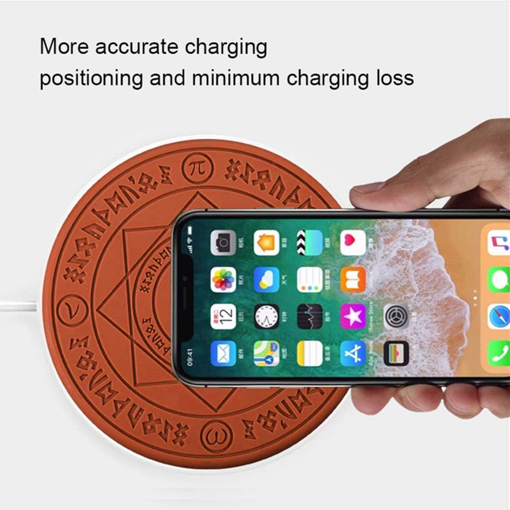 Support De Charge sans Fil Rapide 10 W Certifi/é Qi avec Lumi/ère LED Color/ée pour Plus De T/él/éphones Intelligents Qi ZXYWW Chargeur sans Fil Magique De Rang/ée