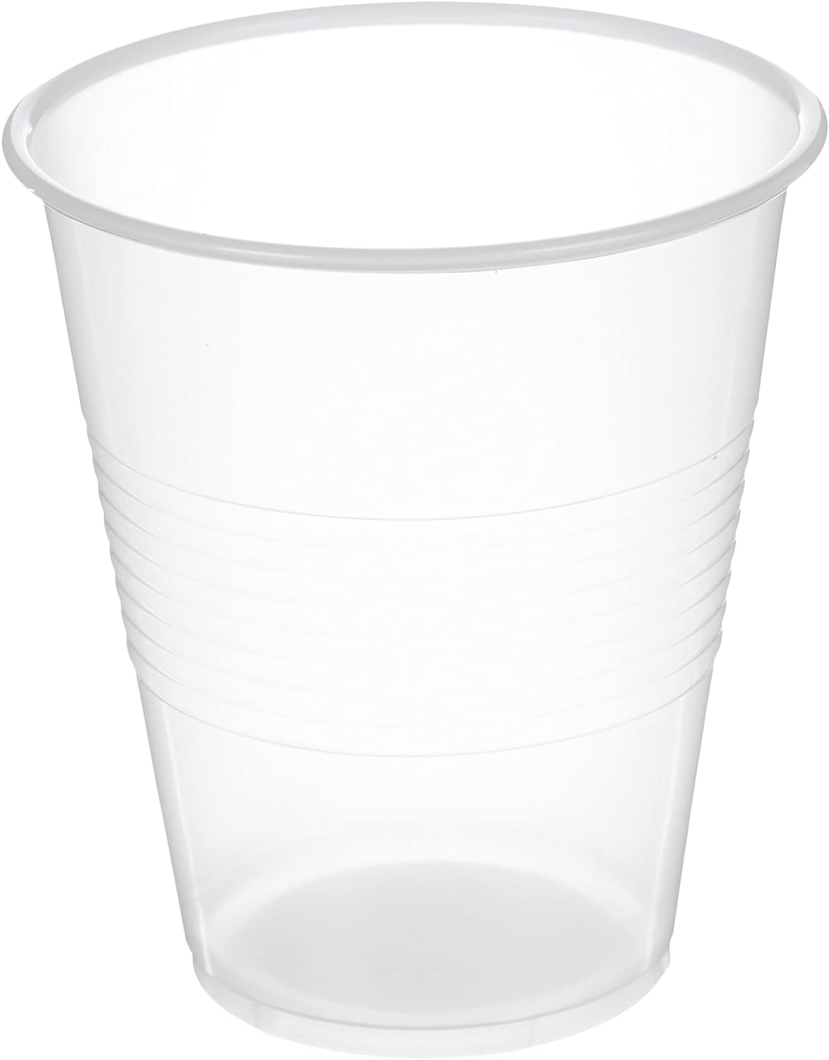 AmazonBasics Plastic Cups, Clear, 7 Ounce, Pack of 100