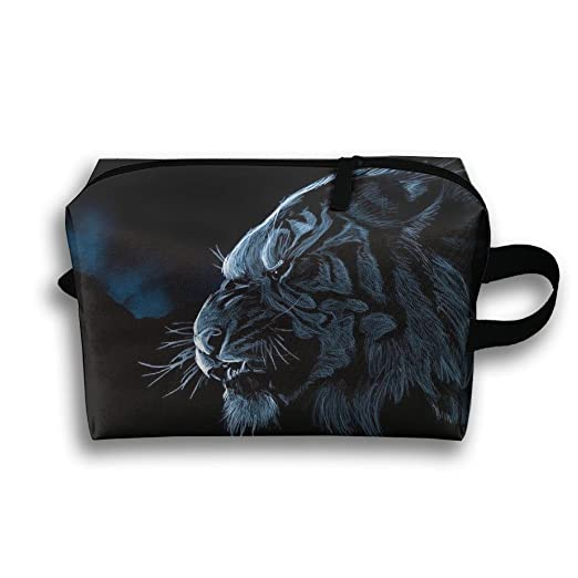 Storage Bag Travel Pouch Cats Tiger Predator Purse Organizer Power Bank Data Wire Cosmetic Stationery Holder