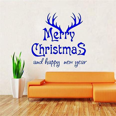 Navidad y Feliz Año Nuevo Vinilo Pegatinas de pared ...