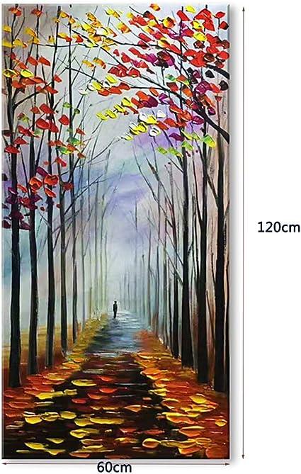 Wonderbaar acryl schilderij 120 x 60 cm. Origineel handgeschilderde DK-97