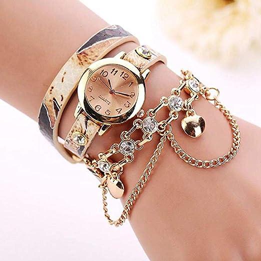 Amazon.com: Women Quartz Watches,Windoson Women Analog Leather Lady Watches Female Watches (Yellow): Electronics