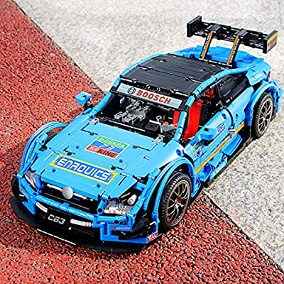WOLFBSUH AMG C63 Race Car Building Set STEM Toy, 1989Pcs 1:8 2.4G Building Blocks and Engineering Toy Sports Car Model: Toys & Games