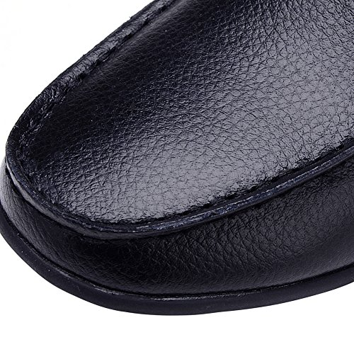 Odema Mens pu Leather Oxfords Slip On Loafers Casual Moccasins Driving Dress Shoes Black liUH7UIfwI